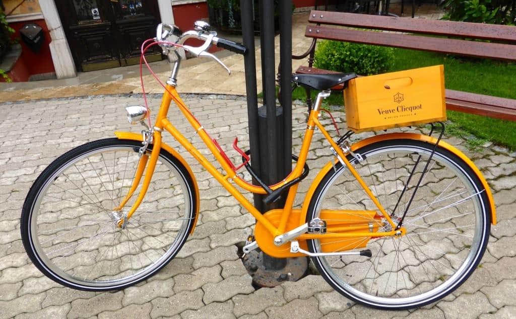 The Veuve Clicquot Delivery Bike