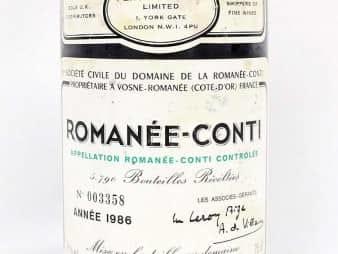 DRCロマネコンティ1986年