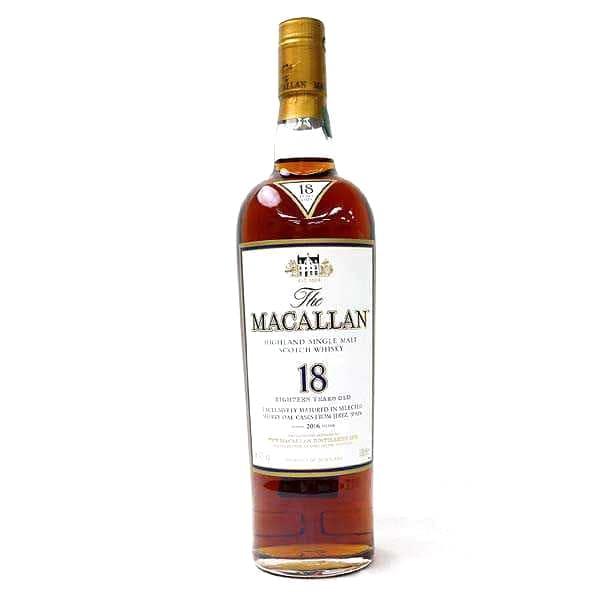 マッカラン18年シングルモルトウイスキー