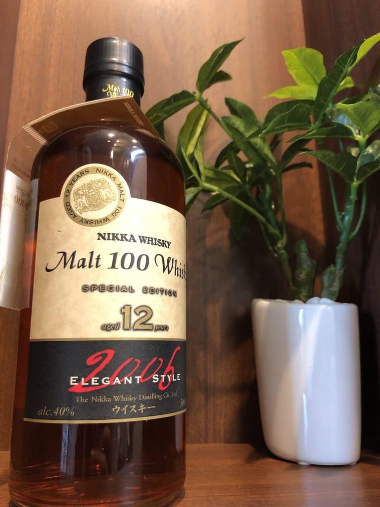 ウイスキー【モルト 100 ウイスキー 12年 2006 エレガントスタイル】のお買取@北海道北見市